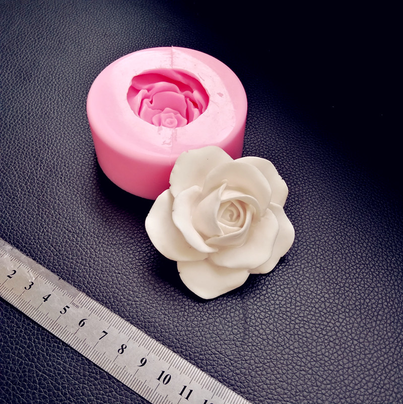 3D stereo flower silica gel mold gypsum craft making tool desktop decoration rose silicone soap molds image