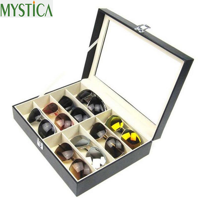 Hot New 8/12 Grid Waterproof Leather Sunglasses Storage Case And Organizer  | MBS   Brunei Online Shop
