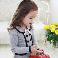 Fashion Fall Springborn Long Sleeve Coat Kids Girl Outwear Dress Baby Fall Tops