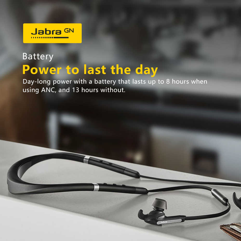 Jabra elite 65e cancelamento de ruído sem fio fones de ouvido fone de ouvido bluetooth