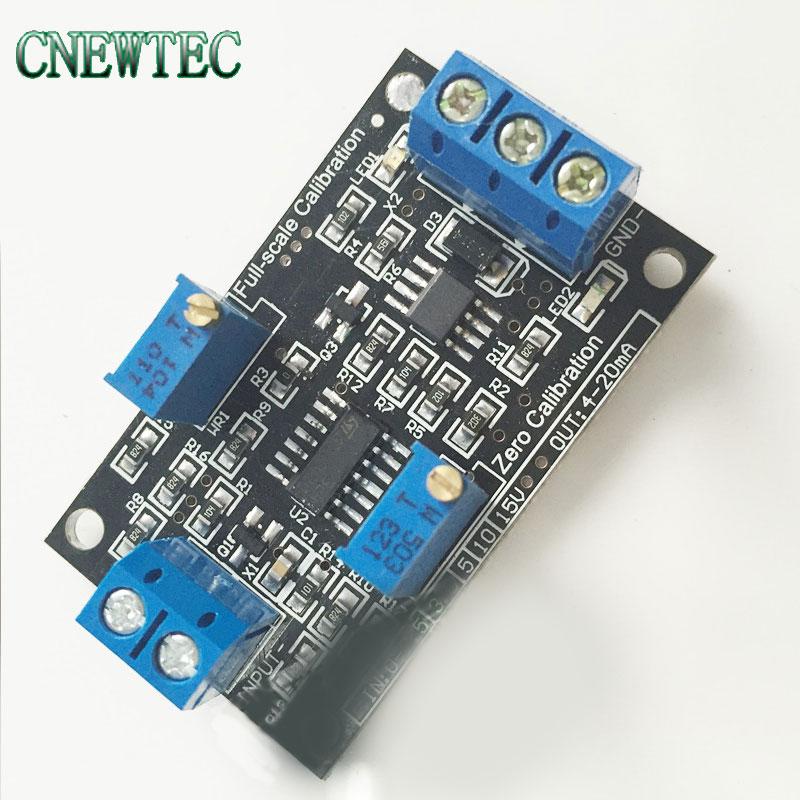 Модуль преобразования тока напряжения 0-10 в 4-20 мА, передатчик сигнала источника постоянного тока для системы ARM ПЛК