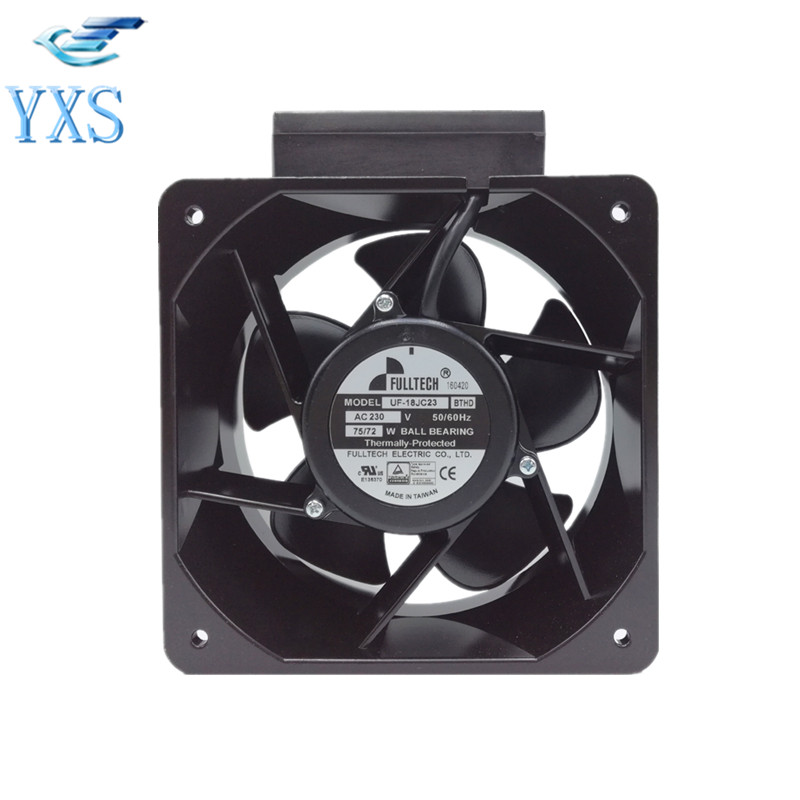 UF18JC23-BTHD AC 220V 75W/72W 50/60HZ 0.42A 2850RPM 2 Wires Inverter Cooling FanUF18JC23-BTHD AC 220V 75W/72W 50/60HZ 0.42A 2850RPM 2 Wires Inverter Cooling Fan