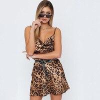 Leopard Women Dress Hot Sexy Fashion Printing Dresses Summer Femme Sundress Casual Clothing Sleeveless Dresses For Women B236