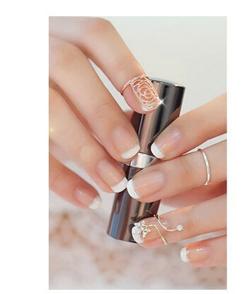 Elegant Design Finger Nail Ring Lady Jewelry Rose Gold Color
