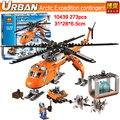 Nueva Bela 10439 273 unids serie urban City Ártico Helicrane Helicóptero modelo Building block juguetes compatible 60034 Juguetes para Los Niños