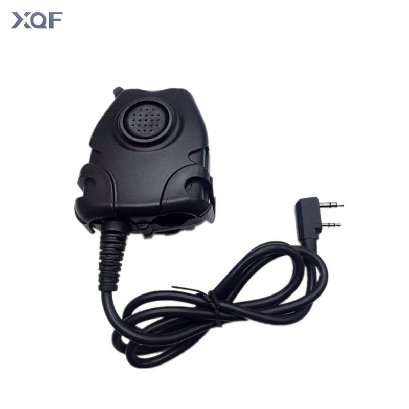 Element / Z-Tactical Peltor Style Headset PTT For Kenwood BaoFeng UV-82 UV-5R V2+Plus GT-3 BF-F8HP PX-888K Two Way Radio