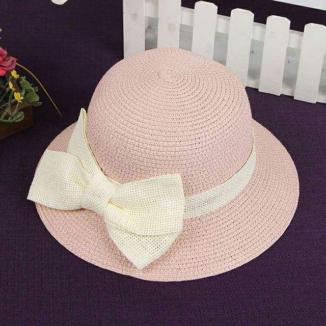 Female spring and summer straw hat Straw beach hat Holiday trips bow visor