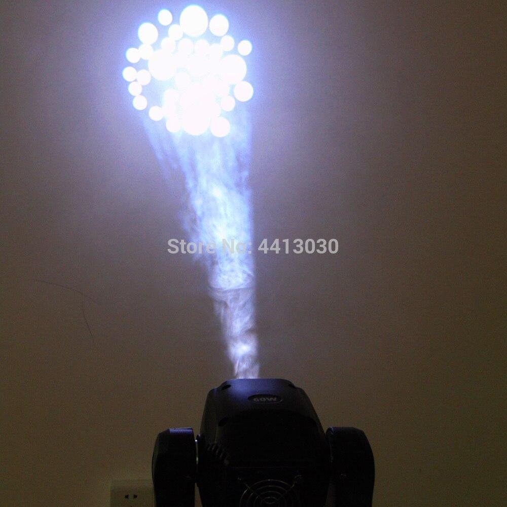 2 unids/lote luz de noche de club de luz de alto brillo con cabezal móvil 60w ktv dj gobo - 5