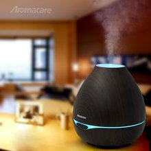 400ml Ultrasonic Essential Oil Aroma Diffuser Dark & Light Wood Grain , Aromatherapy Mist Maker with Colorful Changing Light – FREE SHIPPING