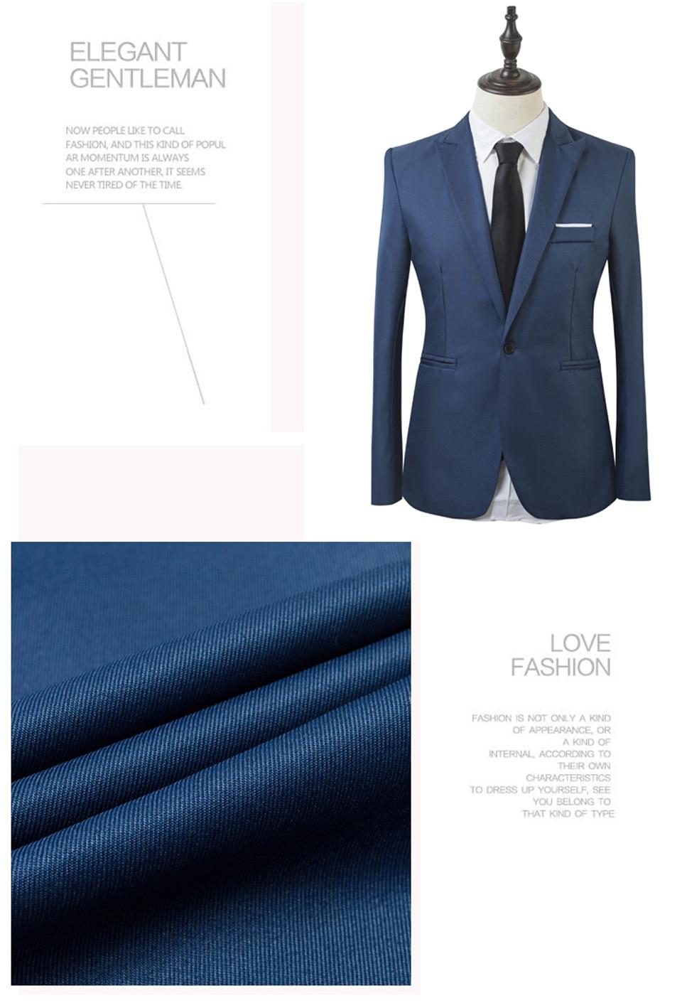 Luxury Men Wedding Suit Male Blazers Slim Fit Suits For Men Costume Business (4)