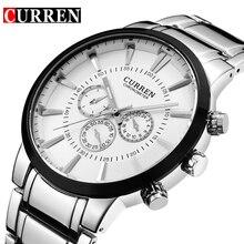 Curren Thời Trang dial Lớn Casual quartz watch Men của thép không gỉ Quân Đồng Hồ Đeo Tay không thấm nước Thương Hiệu Relogio Masculino Nam
