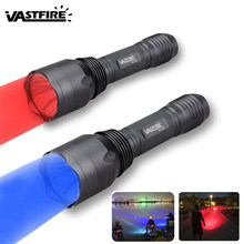 256 yard Torch Hunting Light 2 light color Blue/Red hunting torch It can be used for hunting, fishing(China)