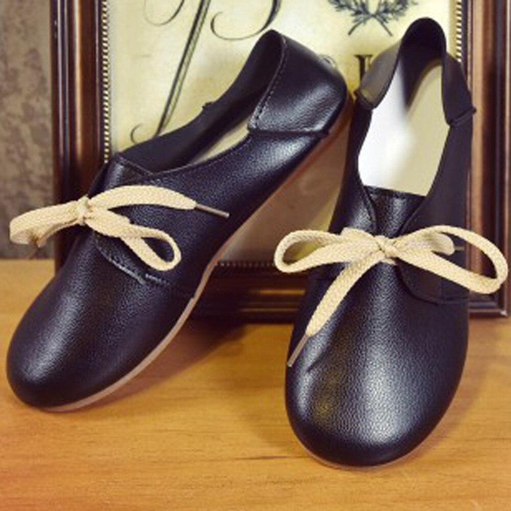 Femme De Ballet white Confortable Doux Plate Femmes Chaussures Nouvelles forme Casual 2018 Dames Plat brown Appartements Ventes Bateau Black ISwxq54Z