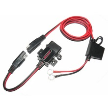 MOTOPOWER MP0609A 3 1Amp Waterproof Motorcycle USB Charger SAE to USB Adapter for phone and GPS