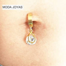 MODA JOYAS Big zircon fake Belly Button Rings 316l Steel Body Jewelry Belly Piercing Rings Sexy Fake Navel Piercing Ombligo