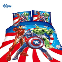 disney Avengers bedding set 2/3/4pc Princess Elsa McQueen Cars Spiderman printed duvet cover single twin size girl boy bed linen