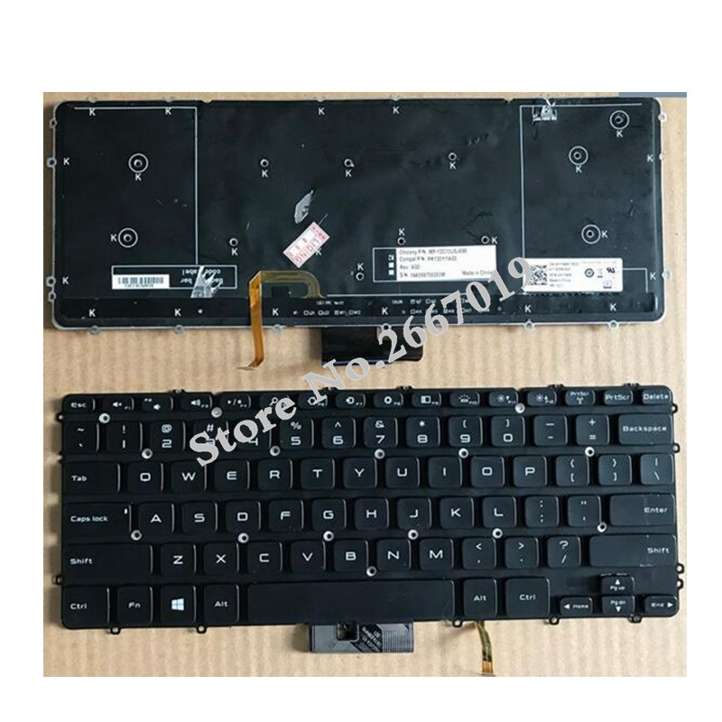 99%NEW English Laptop Keyboard For DELL For precision M3800 XPS 15 9530 US version Black Backlit laptop keyboard for sony vpcz2 black without frame with backlit us english version