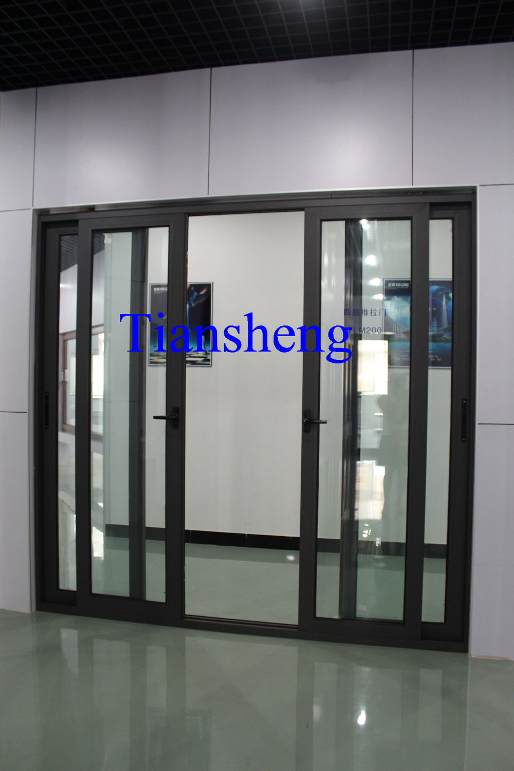 Australian Standard Large Sliding Door With Double Glazing Glass And
