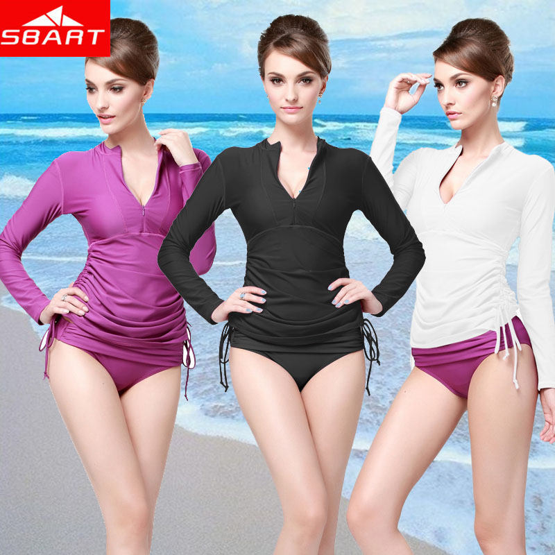 2017 new diving female long sleeve diving clothing jellyfish outdoor surfing suit boating drifting swimsuit speed dry Tops 901