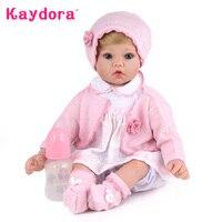 Kaydora 50 см Reborn Baby Doll 20 дюйм(ов) силиконовые Куклы Reborn Куклы Игрушечные лошадки для Обувь для девочек принцесса кукла подарок на день рождения д