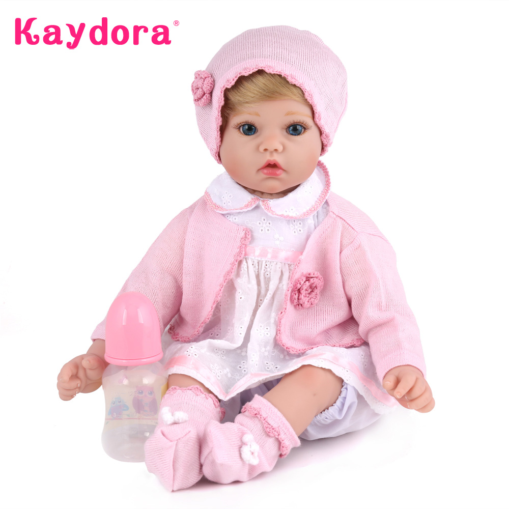 цены Kaydora 50 CM Reborn Baby Doll 20 Inches Silicone dolls reborn Dolls Toys For Girls Princess doll Birthday Gift For Kids Partner
