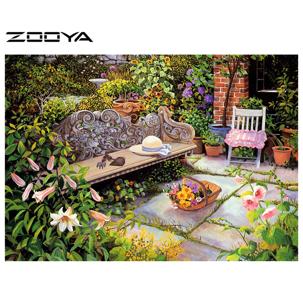 Incredible Us 6 09 58 Off Zooya Crafts Diy 3D Diamond Painting Quiet Garden Bench Square Full Mosaic Diamond Embroidery Resin Craft Handicraft Decor At126 In Ibusinesslaw Wood Chair Design Ideas Ibusinesslaworg