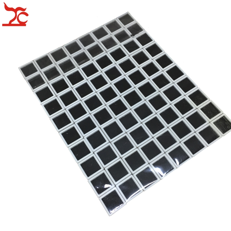80Pcs Plastic Loose Diamond Display Package Stone Box White Gem Case Black Memory Foam Pad Beads