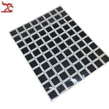 Купить с кэшбэком 80Pcs Plastic Loose Diamond Display Package Stone Box  White Gem Case Black Memory Foam Pad Beads Pendant Box Showcase 3*3*2cm