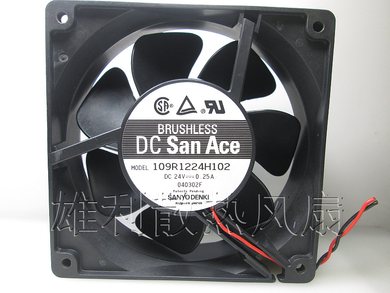 Original Sanyo 109R1224H102 24V 0.25A 12CM 120*120*38MM Cooling <font><b>fan</b></font> image