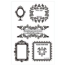 DIY Vintage Flower Frame Transparent Clear Silicone Seal Scrapbooking Photo Album Decorative Stamp Sheets