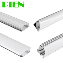 1m 3.3FT Aluminum Channel profile for surface recessed LED strip with Milky cover Mounting clips by DHL 20pcs