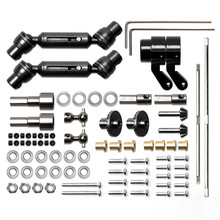 Upgrade For MN 1:12 D90 D91 RC Car Full Set of Metal Bridge Shaft Drive Shaft Toolkit Accessories Parts Steel/Copper Version