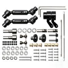 Upgrade Voor MN 1:12 D90 D91 RC Auto Volledige Set van Metalen Brug As Aandrijfas Toolkit Accessoires Onderdelen Staal /koper Versie