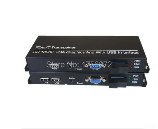 1 paire KVM HD vidéo optique multiplexeur Fiber optique Extender VGA/USB/clavier/souris/Audio Fiber unique 20 KM SC
