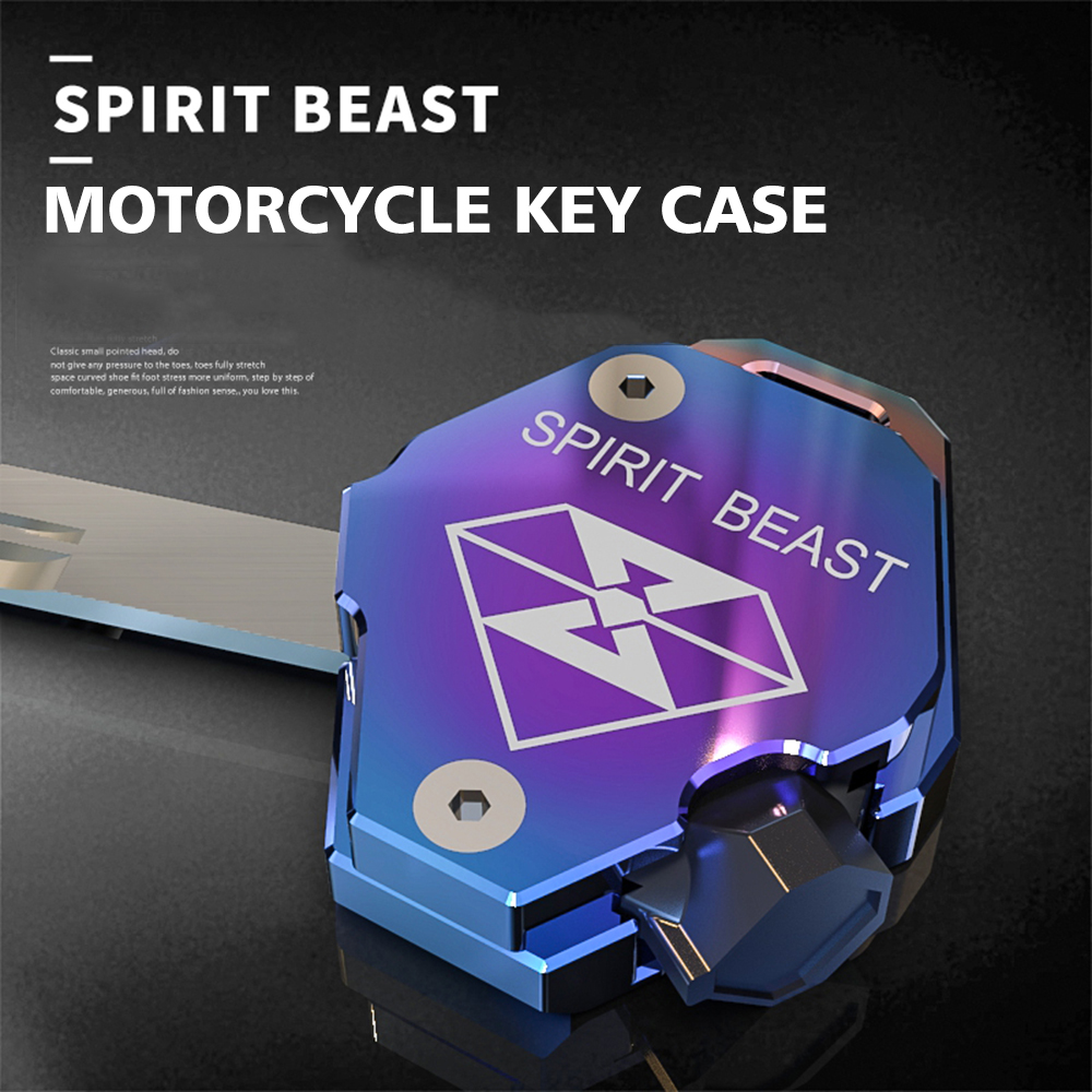 SPIRIT BEAST Motorcycle Key Cover Case Shell Scooter Aluminum for SUZUKI Yamaha CYGNUS-Z CYGNUS-X BWS Honda X-150 Kymco spirit beast motorcycle key cover decoration colorful key cover accessories electric door lock key shell motorsiklet kilit black