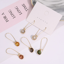 Simple Fashion Long Earrings Multicolor Round Personality Design Sweet Valentines Day Gift Female Holiday