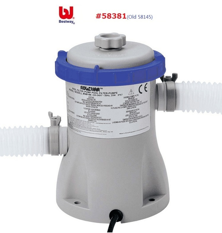 58381 Bestway 330 Gal/Hour Flowclear Filter Pump 1100-8300L Swimming Pool Water Circulating Filter Swimming Pool Water Cleaner