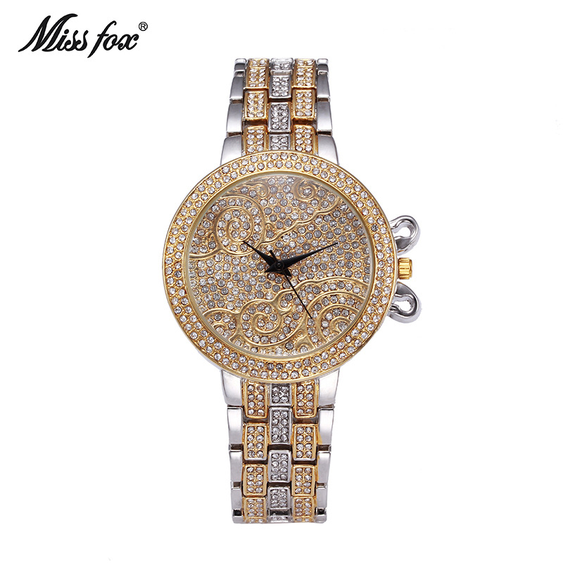 Miss Fox New Recommend Ladies Casual Watches High end Luxury Waterproof Women s Business Fashion Quartz