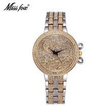 La señorita Fox Nueva Recomendar Señoras Ocasionales Relojes de gama Alta de Lujo Impermeable Relojes de Cuarzo del Negocio de Manera de Las Mujeres
