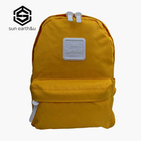Sun Earth U Women Backpack Yellow School Bags For Teenager Girls Rucksack Escolar Mochila Mujer Canvas