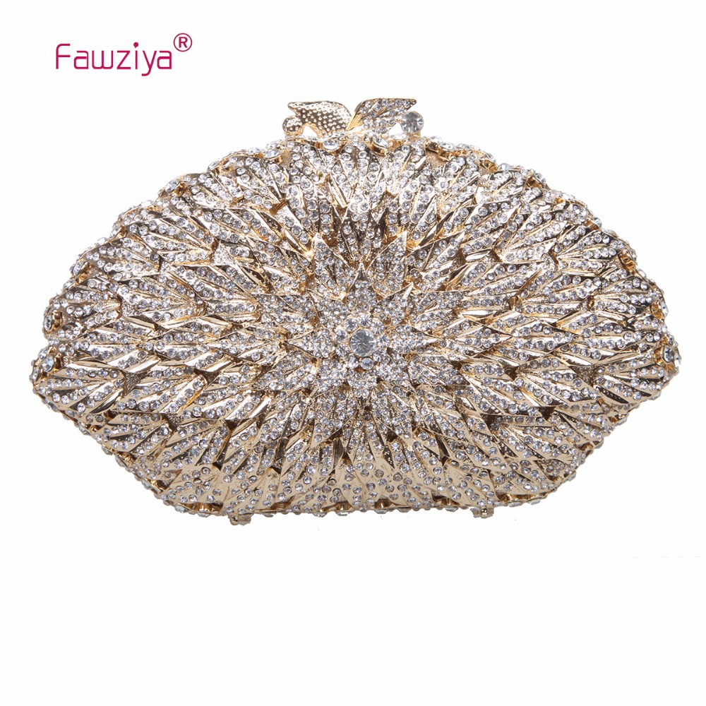 Fawziya Bag Shell Kiss Lock Rhinestone Clutch Bags And Purses For Women Evening Bags fawziya apple clutch purses for women rhinestone clutch evening bag