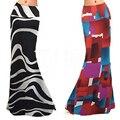 Мода Женщина Длинные Цветочные Юбки 2016 Лето Женщин Boho Джерси Цыганский Длиной Макси Вс Юбка Цветочные Юбка Mujer Vestidos