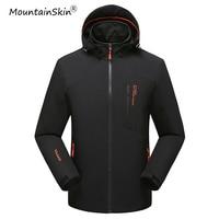 Mountainskin 2017 New Men's Spring Autumn Jackets Fashion Hooded Coats Male Waterproof Windproof Brand Jackets Plus Size LA415