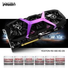 Yeston Radeon RX 590 GPU 8GB GDDR5 256bit Gaming Desktop computer PC Video Graphics Cards support DVI/HDMI PCI-E X16 3.0