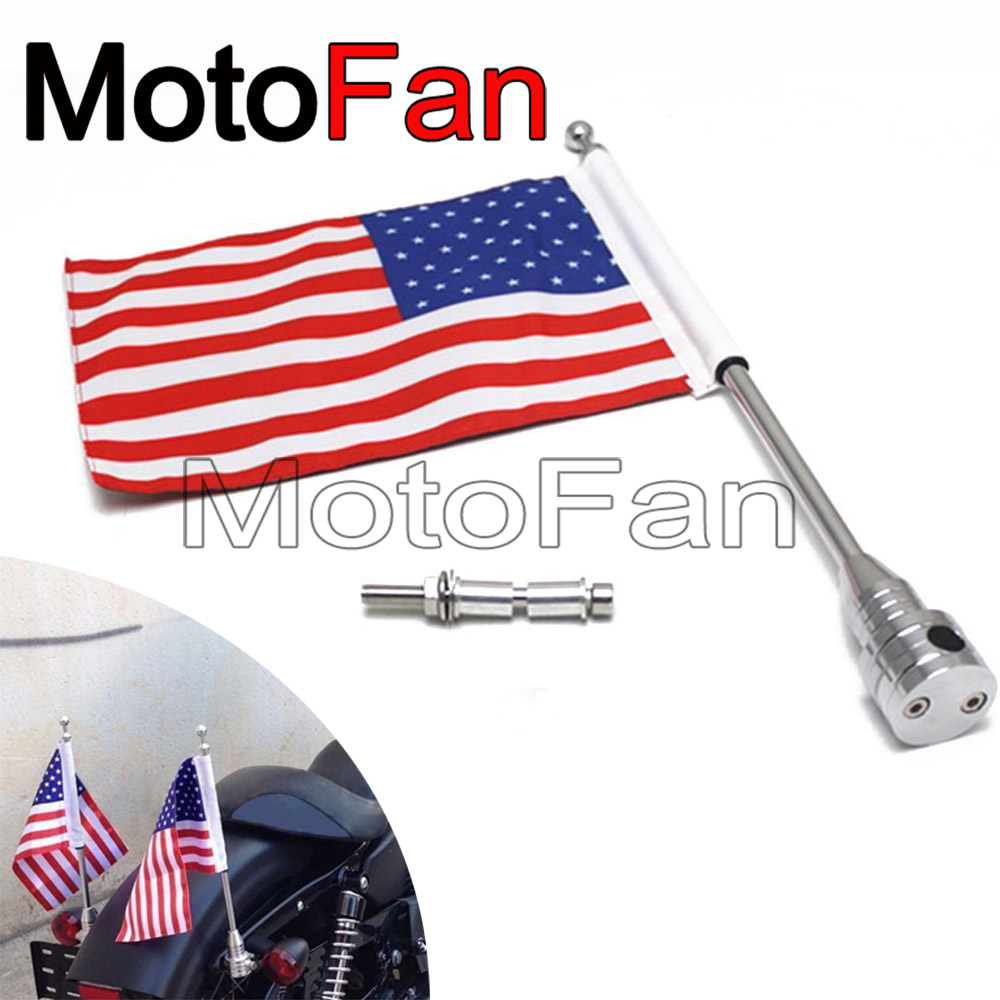 Custom Motorcycle Flag Pole Mount Holders USA American Flags for Harley Davidson Cruiser Chopper Sportster XL 883 1200 48 Dyna mtsooning timing cover and 1 derby cover for harley davidson xlh 883 sportster 1986 2004 xl 883 sportster custom 1998 2008 883l