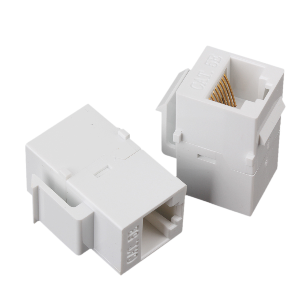 5 x White Inline RJ45 Keystone Wall Coupler Jack Adapter Cat5 8P8C