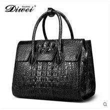diwei 2017 new hot free shipping real crocodile leather women handbag fashion joker lady handbag holding bag women bag authentic