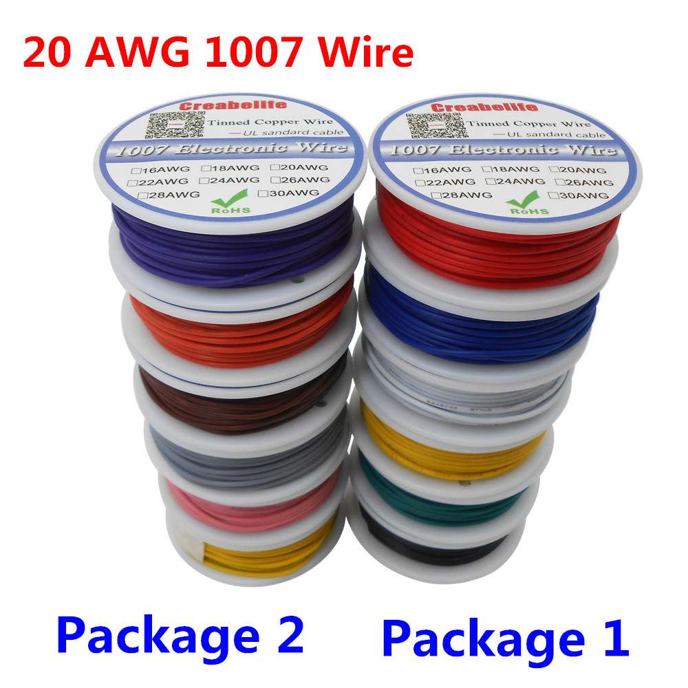 36m /lot UL 1007 <font><b>20AWG</b></font> 6 Colors P1 or P2 Electrical Wire Cable Line Tinned Copper PCB Wire UL Certification Insulated LED Cable image