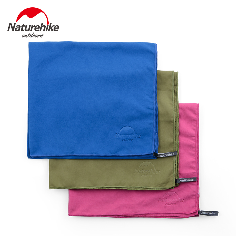 Naturehike Factory Sell Three Colors Quick Dry Travel Towel Microfiber Towel Sport Swimming Beach Bath Towel Gym Towel