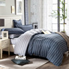 Simple Egyptian Cotton Bedding Set King Size Striped Bedspread Grey Color Plaid Cotton Bed Sheets For